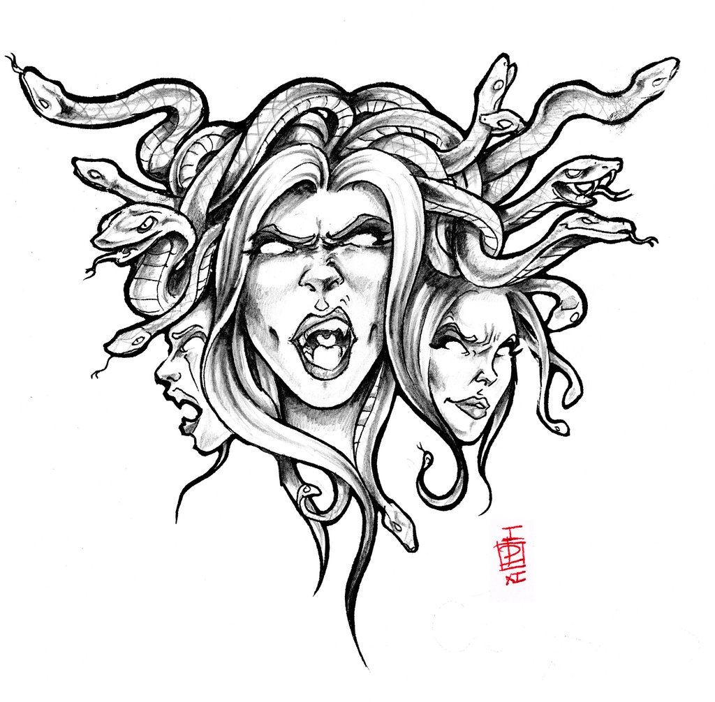 1024x1006 Medusa Tattoo Sketch Real Photo Pictures Images And Sketches