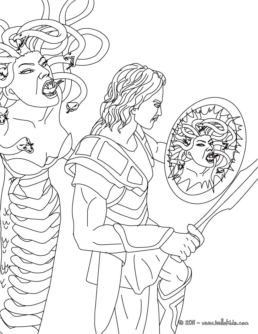 821x1061 Myth Of Perseus And Medusa Coloring Pages
