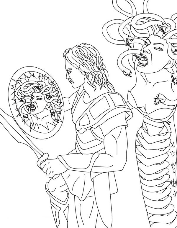 600x775 Perseus And Medusa Coloring Page