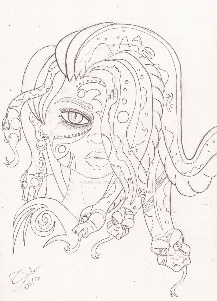 759x1052 Beautiful Medusa By Derricklkimbowa