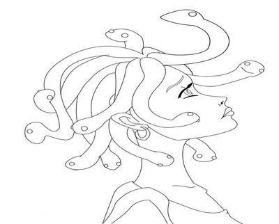Medusa Line Drawing at GetDrawings com | Free for personal