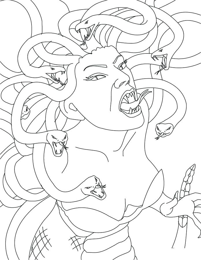 Medusa Line Drawing At Getdrawings Com Free For Personal Use
