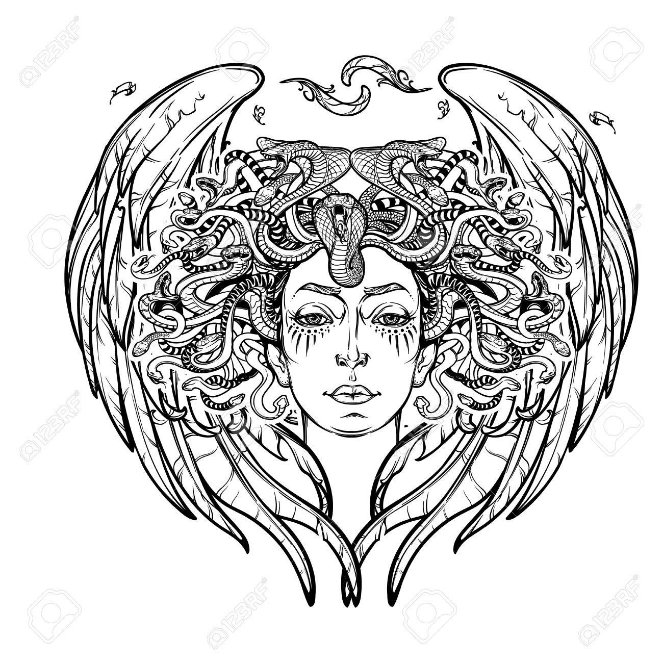 1300x1300 Medusa Gorgon.ncient Greek Mythological Creature With Face