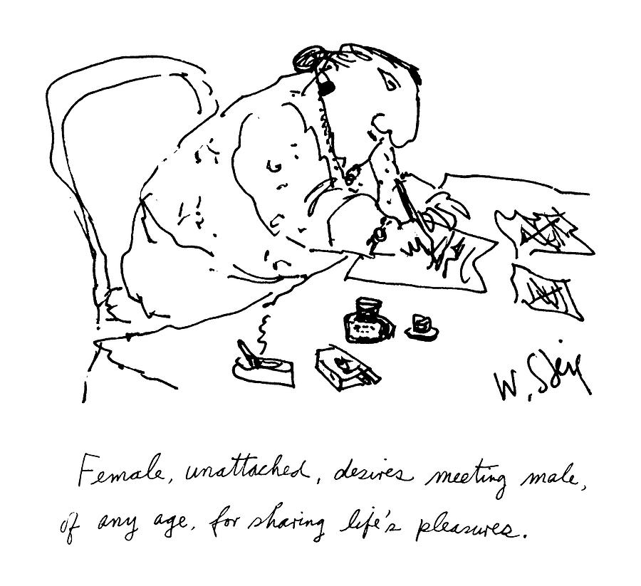 900x823 Female, Unattached, Desires Meeting Male, Of Any By William Steig