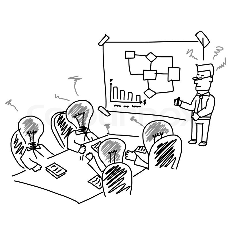 800x800 Vector Of Business Meeting And Brainstorming Presentation