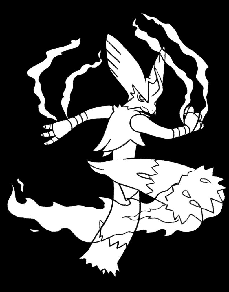 Mega Blaziken Drawing at GetDrawings   Free download