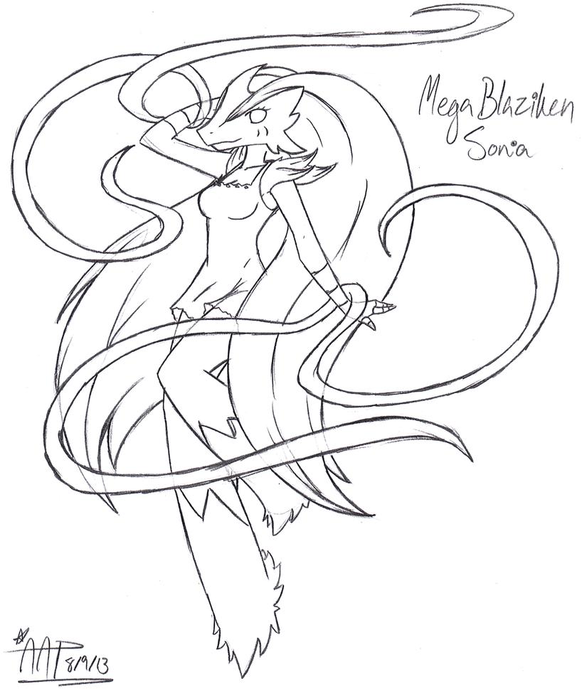 825x969 Quick Mega Blaziken Sonia Rough Sketchypoo By Spiralsunrise
