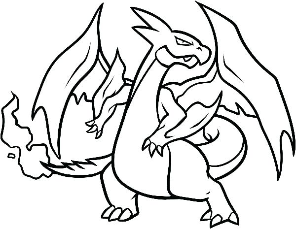 600x465 Pokemon Charizard Coloring Pages How To Draw A Coloring Page