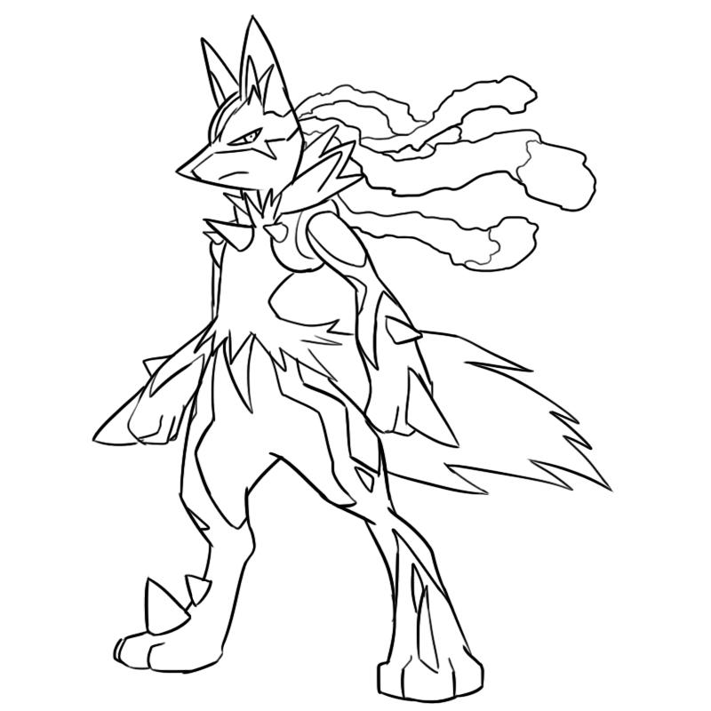 Mega Lucario Drawing At Getdrawings Com Free For Personal Use Mega