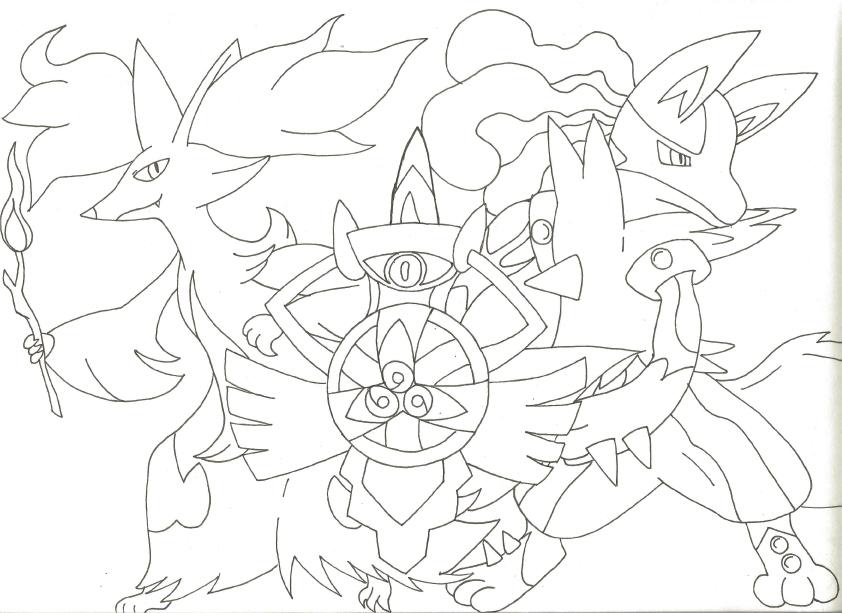 Mega Lucario Drawing At GetDrawings.com
