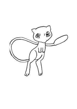300x424 Mew Coloring Pages Mew Coloring Pages Mega Mewtwo Coloring Pages