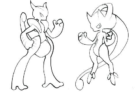 mega mewtwo drawing at getdrawings free