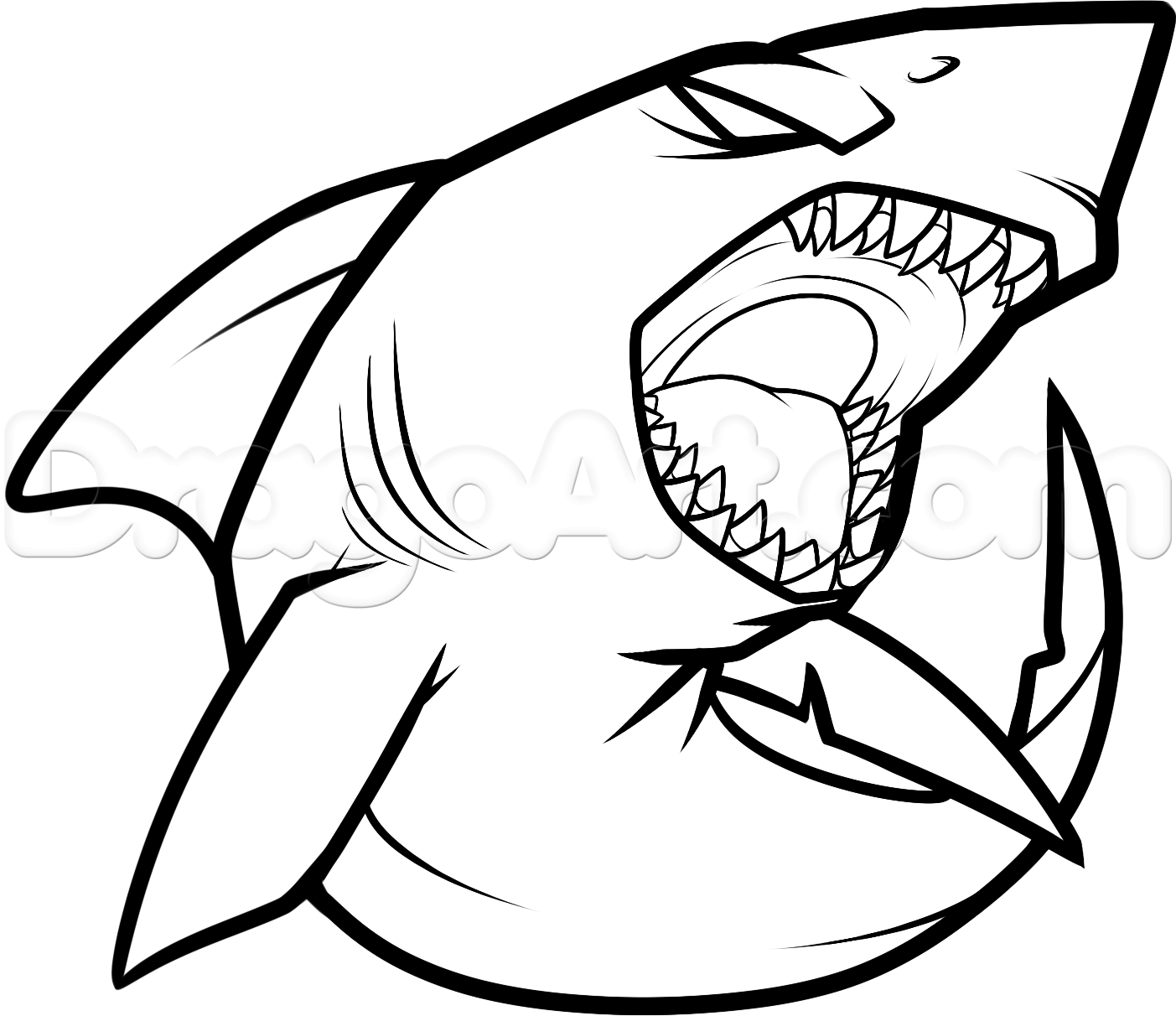 1403x1212 How To Draw Megalodon Drawing And Coloring Megalodon Shark