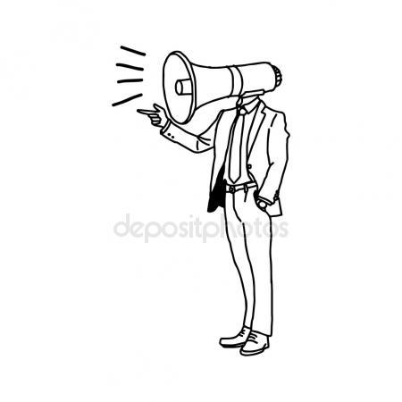 450x450 Doodle Megaphone Vector Illustration Vector Illustration Stock