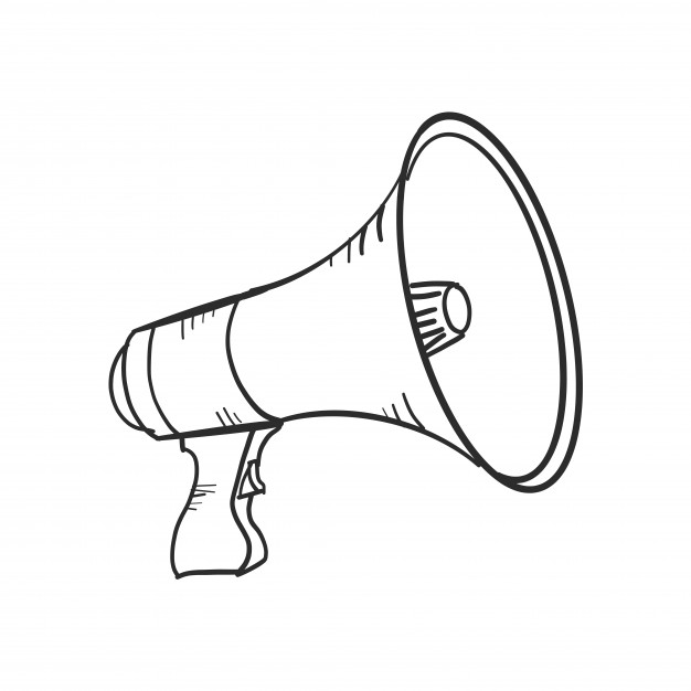 626x626 Doodle Megaphone Vector Free Download