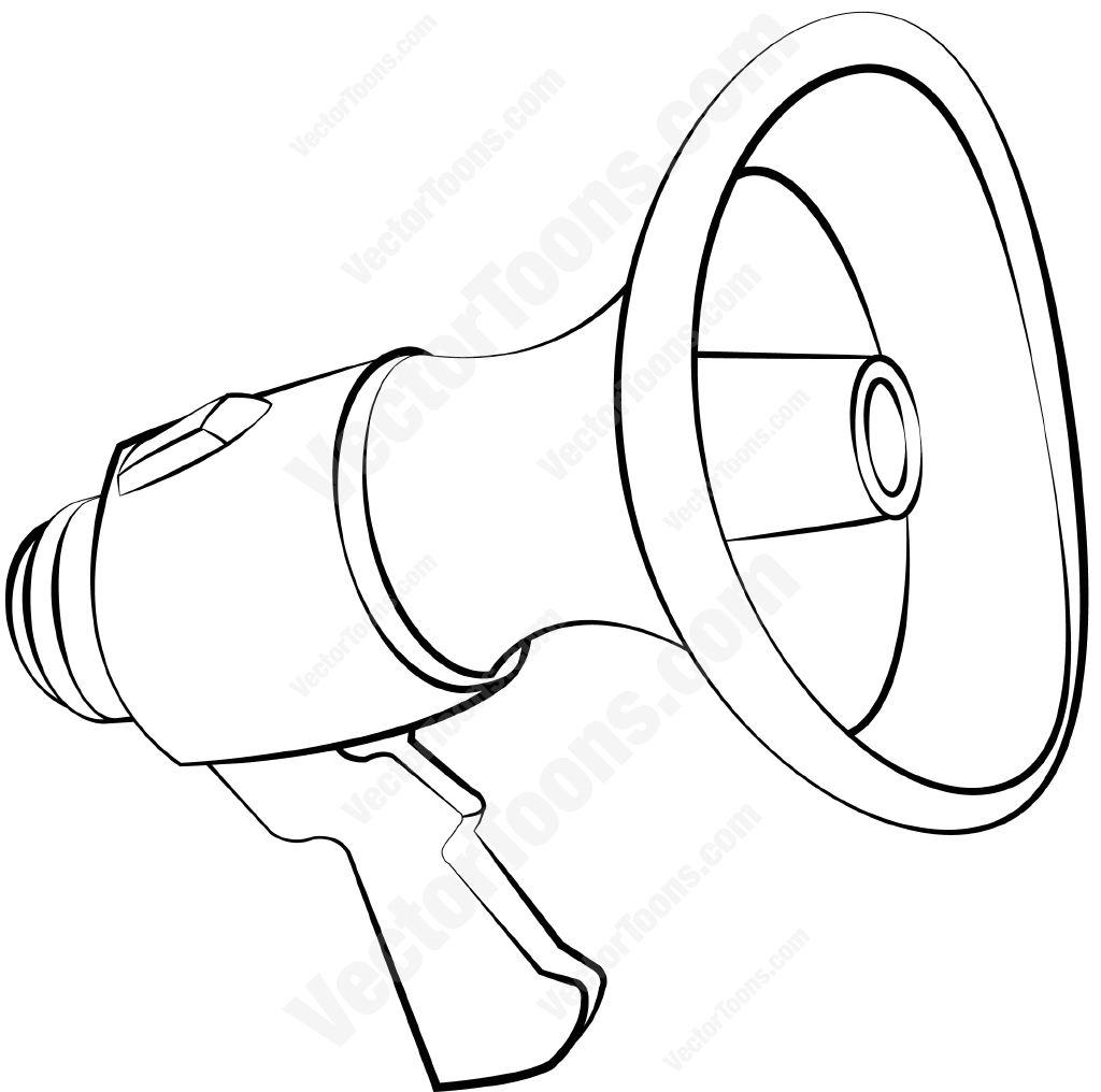 1024x1016 Megaphone Cartoon Clipart