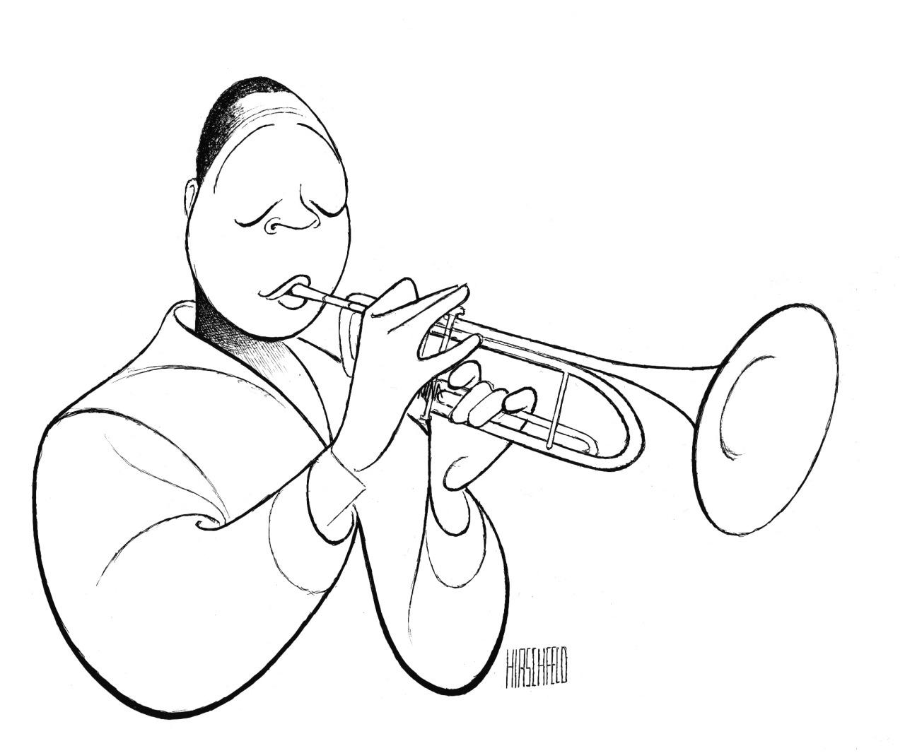 1280x1066 Al Hirschfeld Drawing Of Wynton Marsalis Courtesy