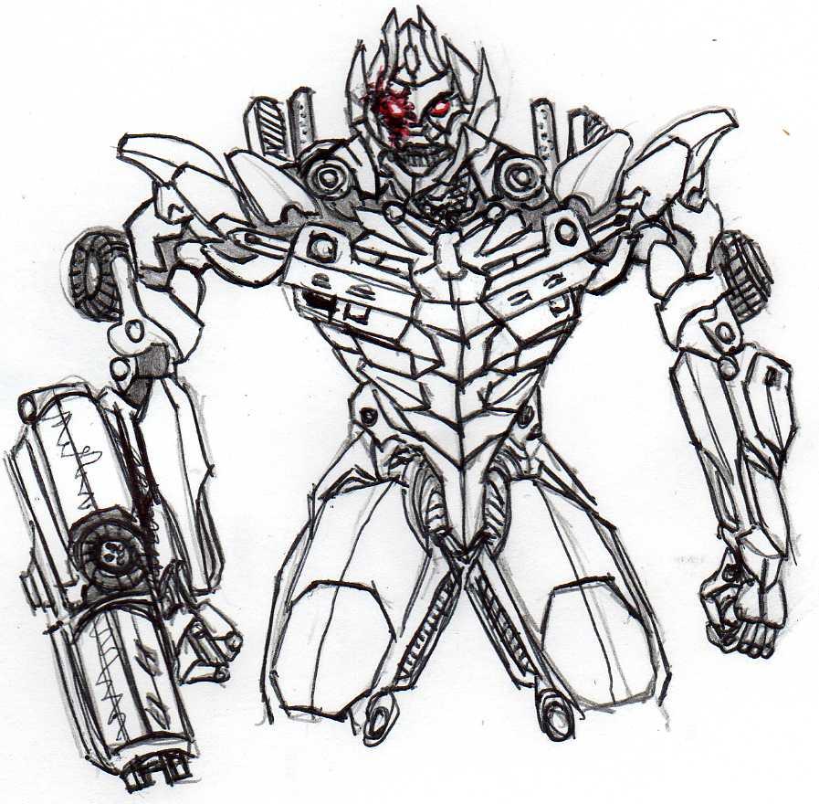 897x880 Dotm Megatron Sketch By Cosbydaf
