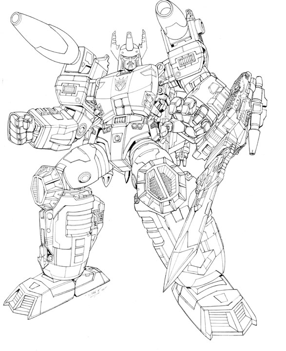 587x720 Energon Megatron Lineart Artwork For Unreleased Transformers