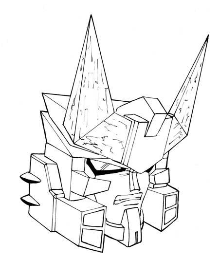 450x532 Master Megatron Head By Equanimity505