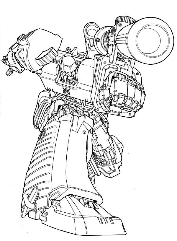 600x816 Megatron Amazing Bazooka Coloring Page