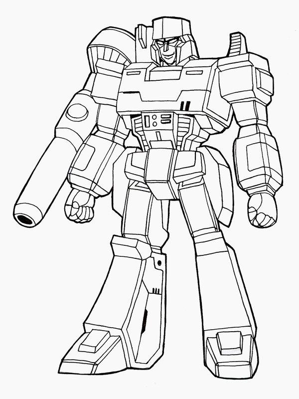 600x800 Megatron Lineart By Nakoshinobi