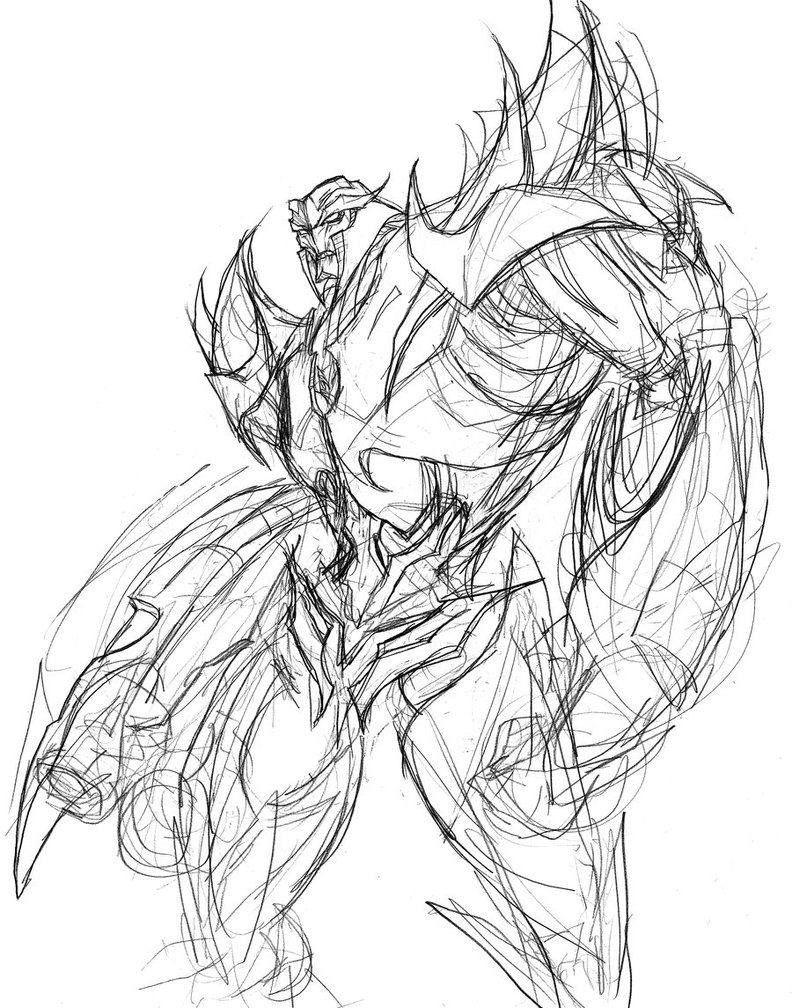 792x1008 Megatron Sketch By Abigaillarson