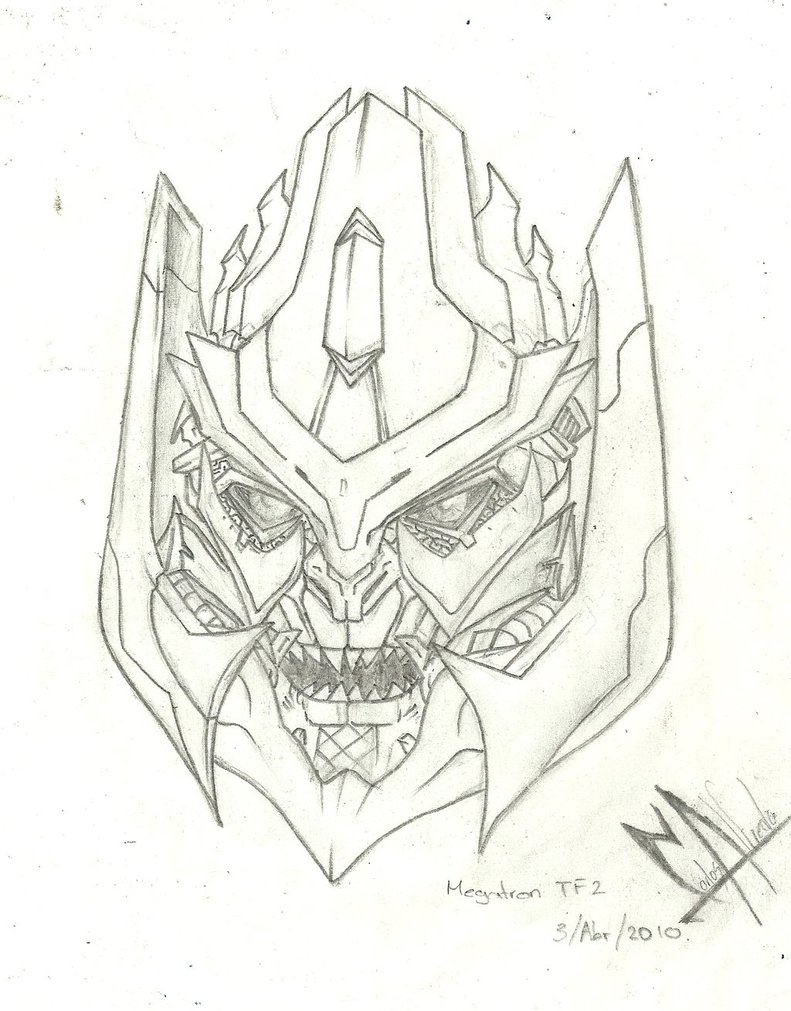 791x1011 Megatron Tf2 Head By Kryopsique