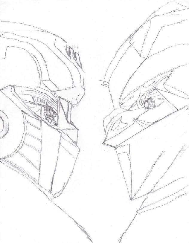 632x813 Optimus Prime Vs Megatron By Sakuradbzgirl15