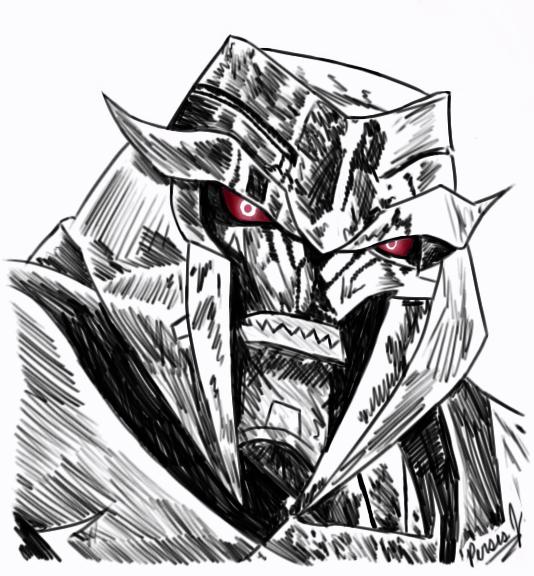 534x576 Tfp Megatron Sketch By Pdj004