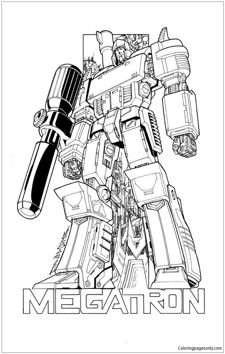 732x1151 Transformers Megatron Coloring Page