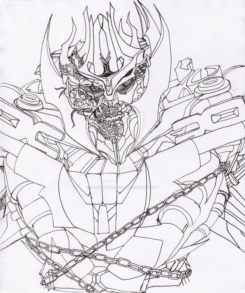 817x978 Dotm Megatron Ink By Constantscribbles