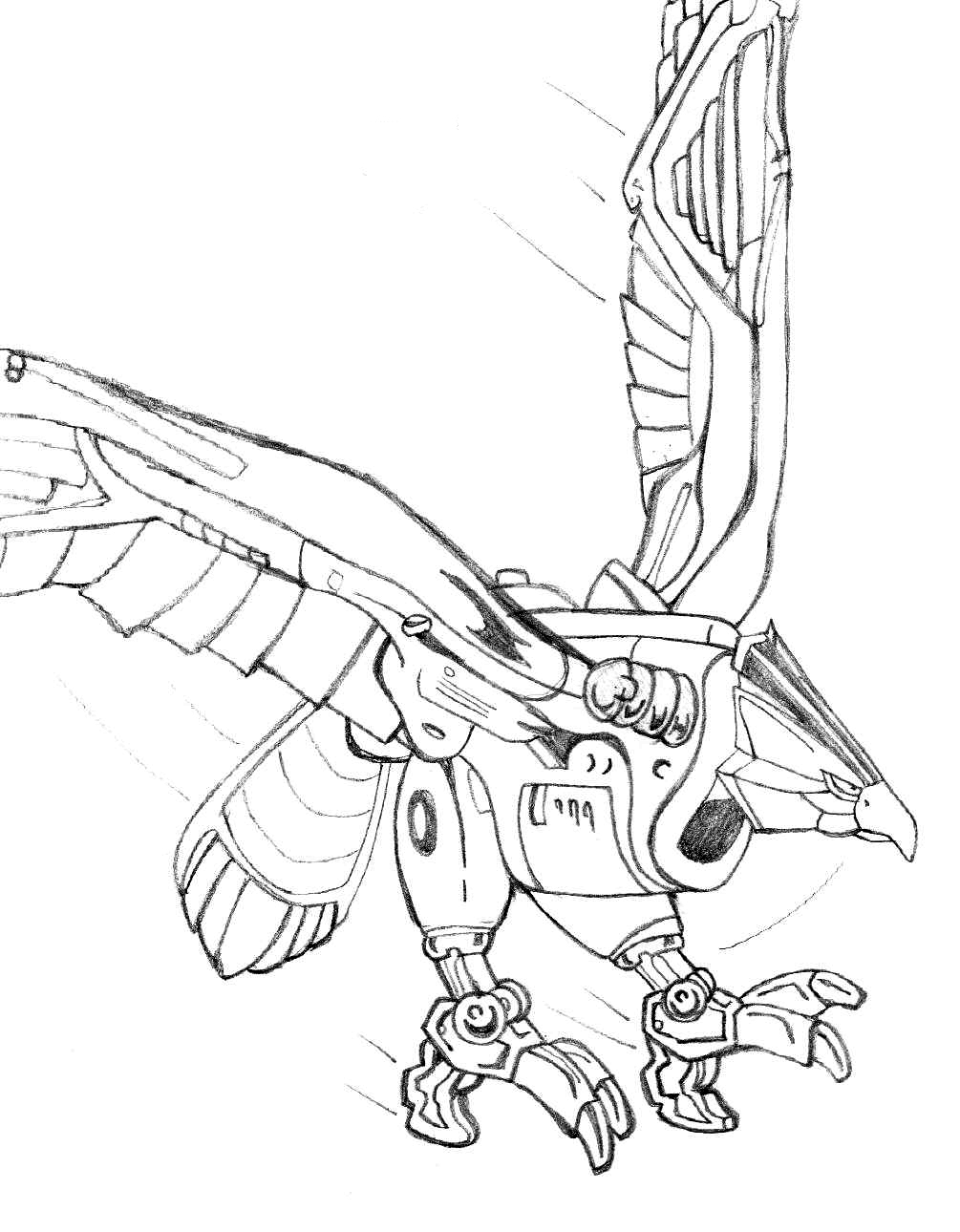 1005x1290 Falconzord By Ave606 On DeviantArt 650x912 Free Printable Power Rangers Coloring Pages