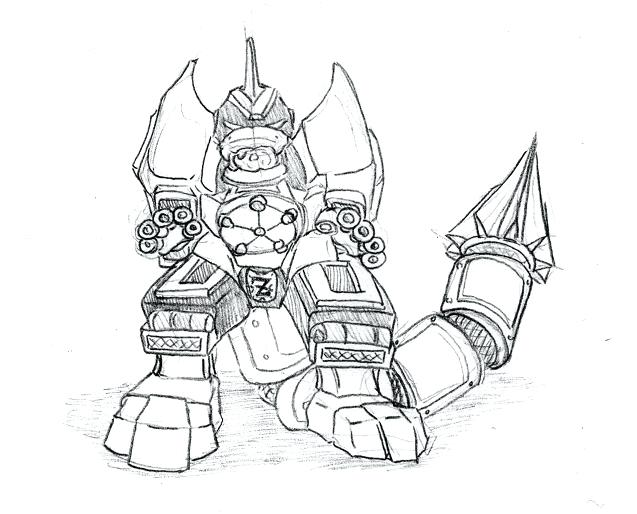 637x514 Megazord Coloring Pages Power Rangers Dino Charge Megazord