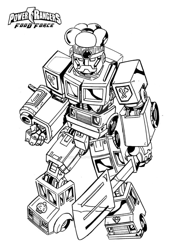 772x1035 Power Ranger Food Force Megazord By Wonderfully Twisted