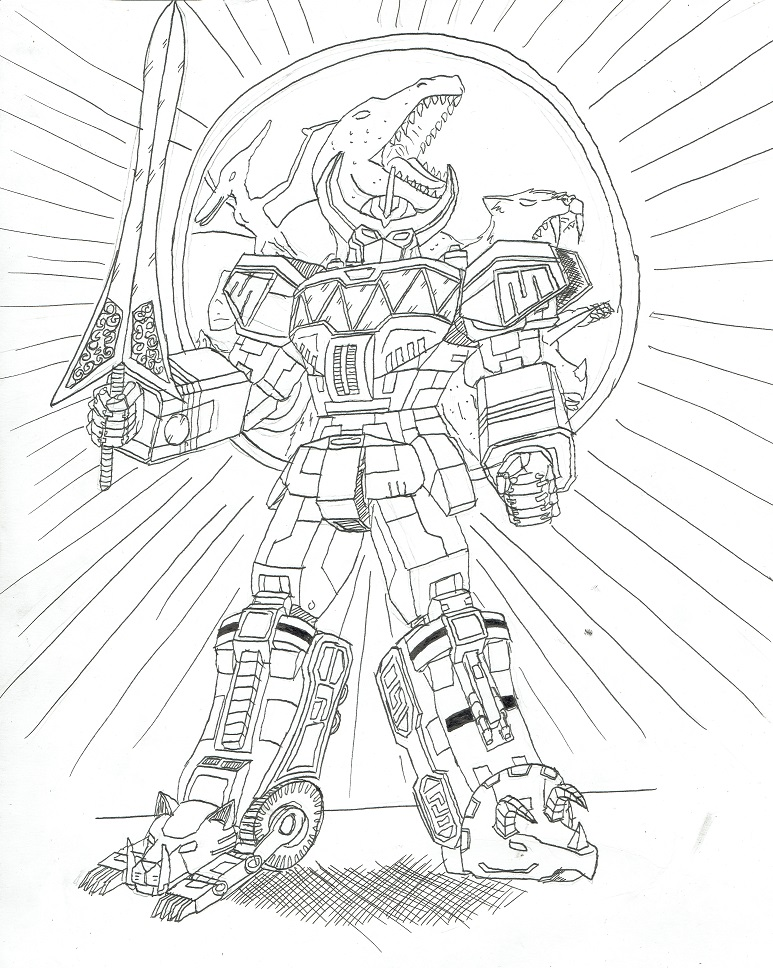 773x968 Power Rangers Megazord(Line Art) By N1ghtmar37