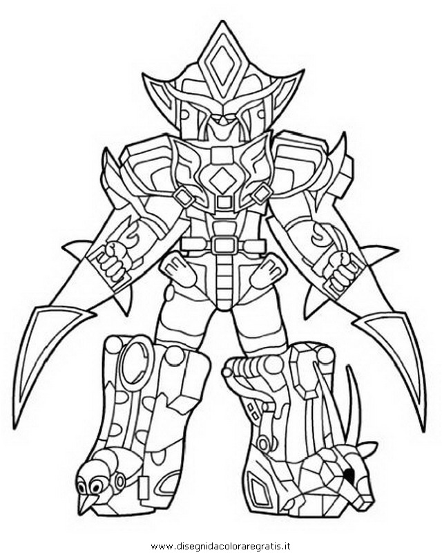 640x806 Power Rangers Megazord Coloring Pages
