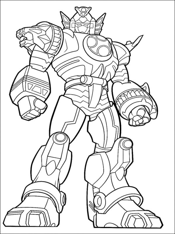 600x800 Power Rangers Megazord Coloring Pages