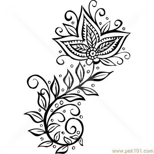 500x500 Easy Drawing Mehndi Design