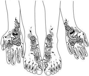 300x256 Easy Mehndi Designs Drawings For Girls
