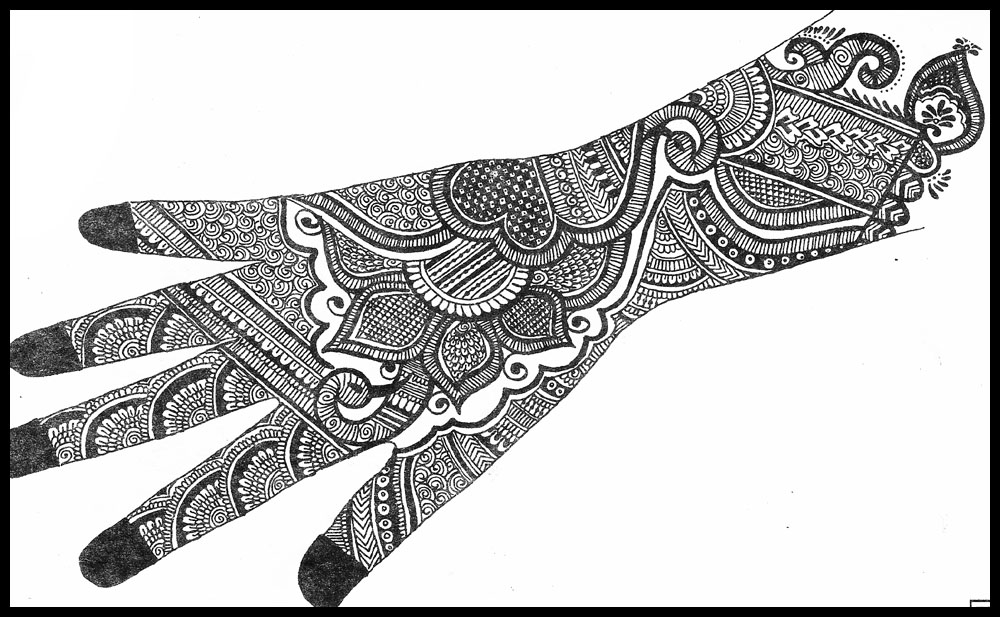 1000x617 Latest Mehndi Design Sketches For Ladies Collection 2013