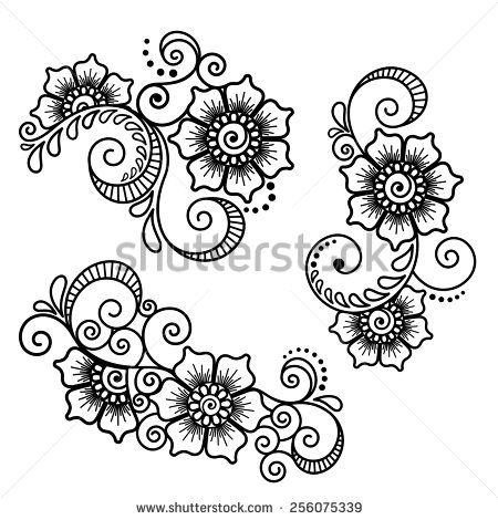 450x470 Mehndi Design Drawing. Best Another Easy Henna Mehndi Design By
