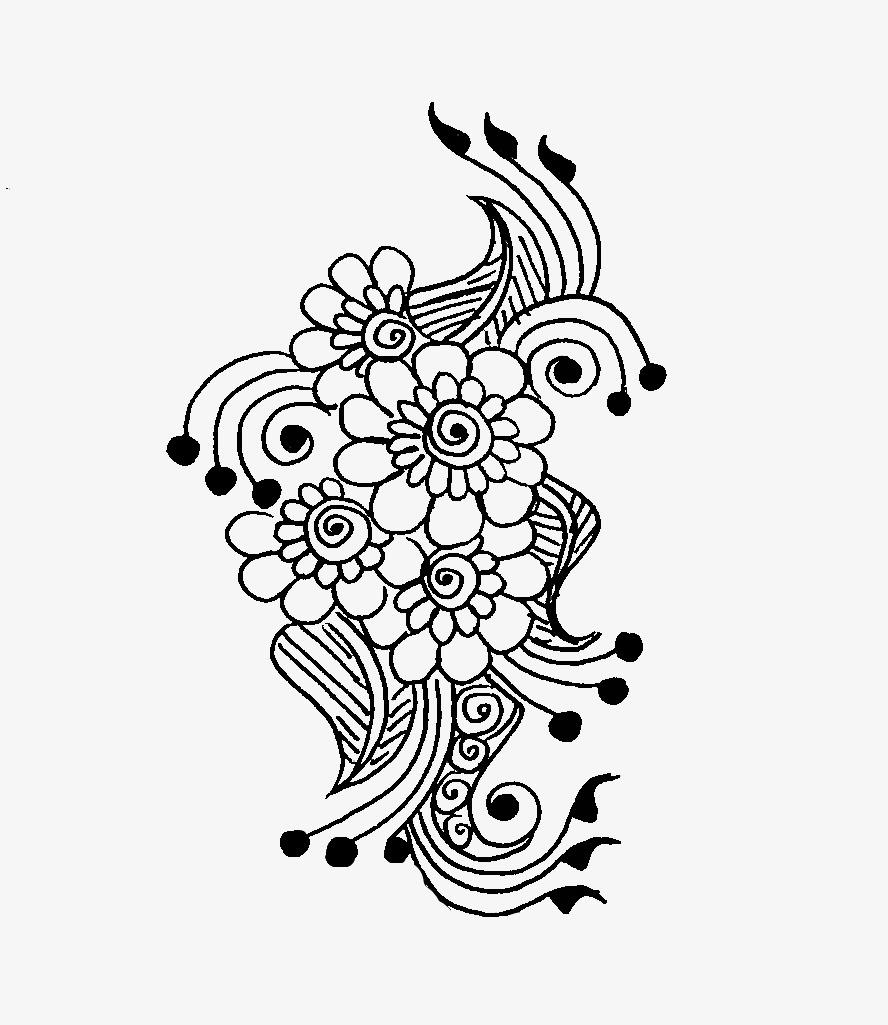 888x1025 27 Cool Simple Mehndi Design Drawings