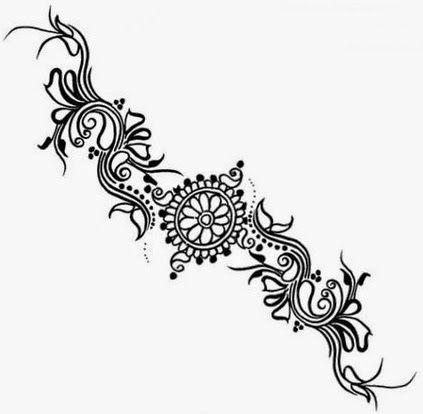 423x414 Nice Simple Mehndi Designs Drawings Henna Patterns Tumblr Drawings