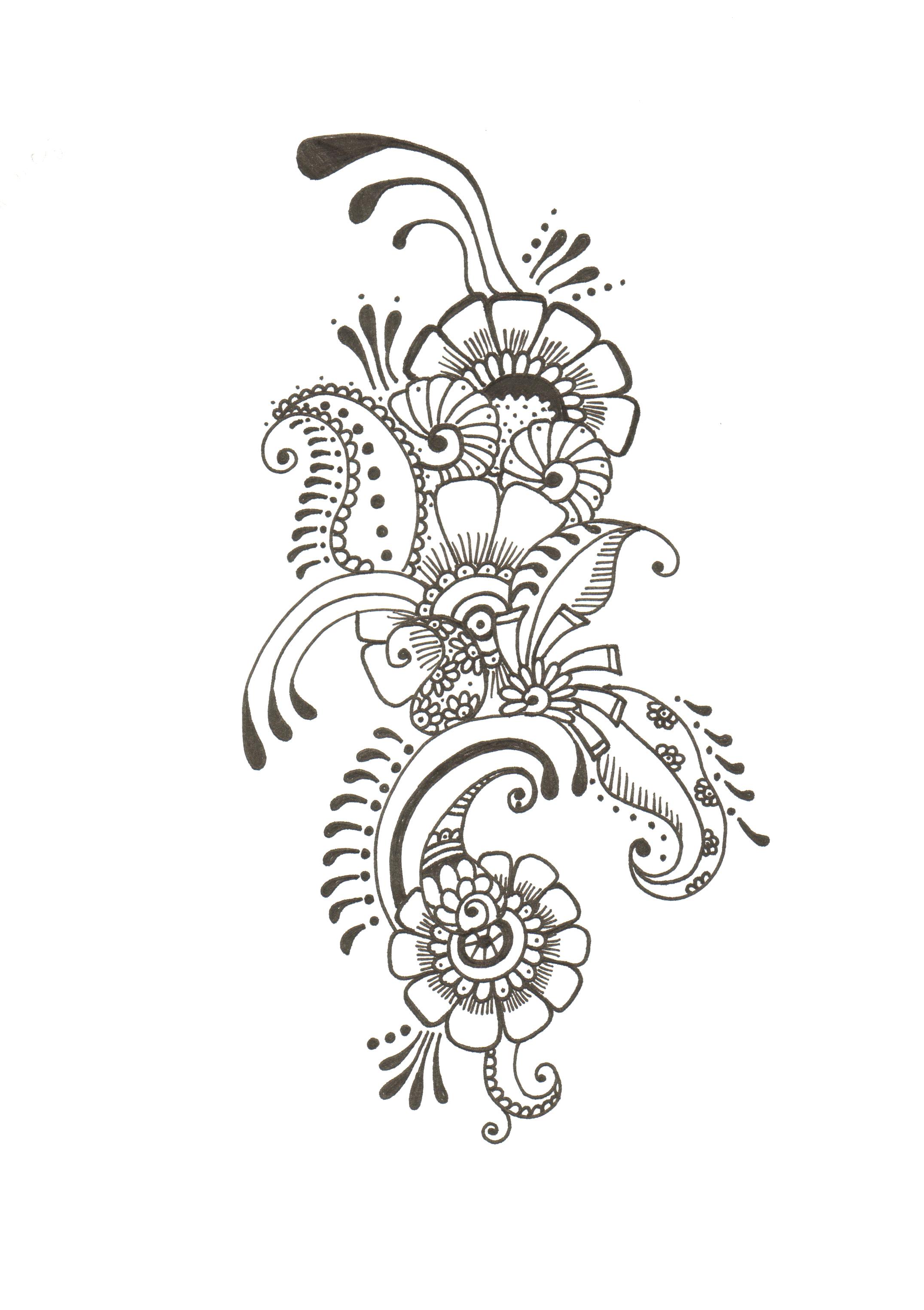 Mehndi Design Drawing at GetDrawings.com | Free for personal ...