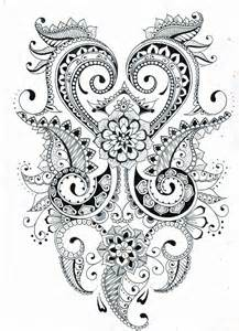 217x300 Mehndi Design Coloring Pages