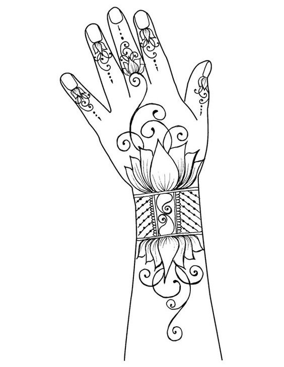 564x729 Classy Mehndi Designs For Hands Step By Step