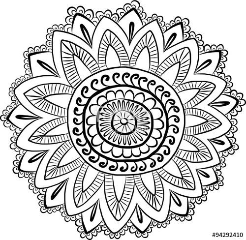 500x488 Vector Ethnic Mehndi Pattern. Template For Mehndi Ornament. Hand