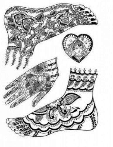 386x500 Dover Pictorial Archive Mehndi Designs Traditional Henna Body