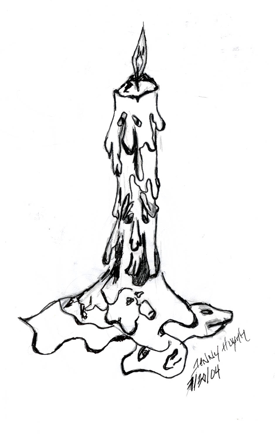 939x1485 Drawn Candle Melting Candle